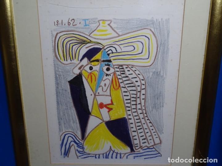 ANTIGUO GRABADO DE PICASSO. 13-1-62. (Arte - Grabados - Contemporáneos siglo XX)