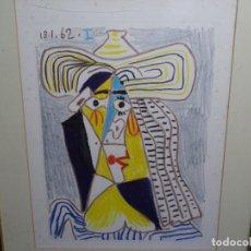 Arte: ANTIGUO GRABADO DE PICASSO. 13-1-62.. Lote 245497270