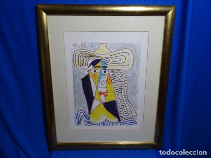 Arte: ANTIGUO GRABADO DE PICASSO. 13-1-62. - Foto 2 - 245497270