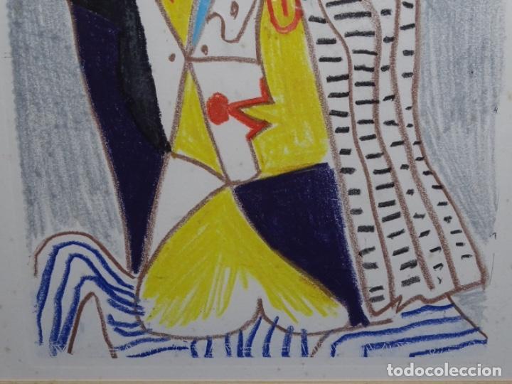 Arte: ANTIGUO GRABADO DE PICASSO. 13-1-62. - Foto 4 - 245497270
