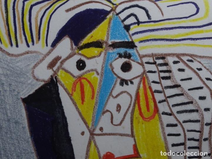 Arte: ANTIGUO GRABADO DE PICASSO. 13-1-62. - Foto 5 - 245497270