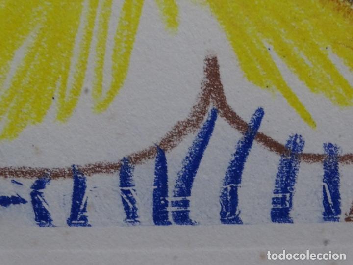 Arte: ANTIGUO GRABADO DE PICASSO. 13-1-62. - Foto 8 - 245497270