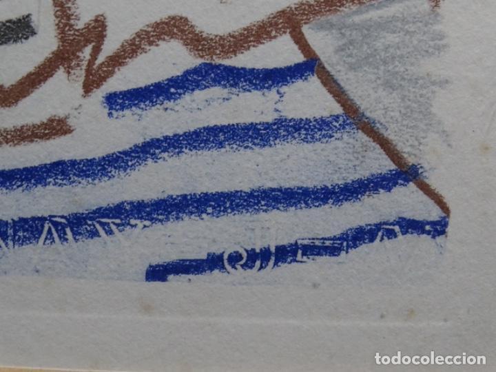 Arte: ANTIGUO GRABADO DE PICASSO. 13-1-62. - Foto 9 - 245497270