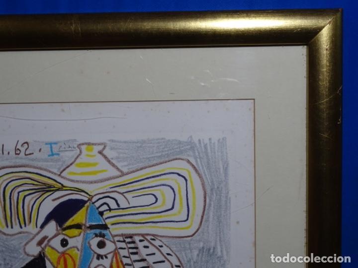Arte: ANTIGUO GRABADO DE PICASSO. 13-1-62. - Foto 13 - 245497270