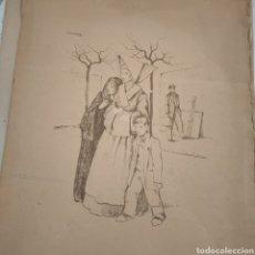 Arte: GRABADO DEL DIBUJO ORIGINAL DE RAMÓN CAPMANY Y MONTANER. Lote 245770840