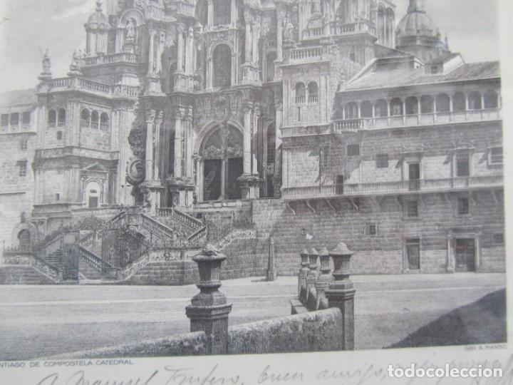 Arte: Grabado enmarcado Catedral de Santiago de Compostela, P/A, Antonio Manso, Firmado - Foto 7 - 245898190