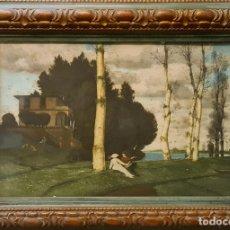 Arte: ESCENA GALANTE. FOTOGRABADO DE ARNOLD BÖCKLIN. SUIZA. (1827-1901).. Lote 245905475