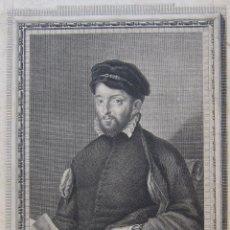 Arte: MANUEL ALEGRE. RETRATO DE ANTONIO PEREZ, 1796. AGUAFUERTE. Lote 245912535