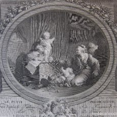 Arte: NICOLAS DE LAUNAY (PARIS, 1739–1792) LE PETIT PRÉDICATEUR.SEGÚN FRAGONARD. 23 X 30 CM. Lote 245917205