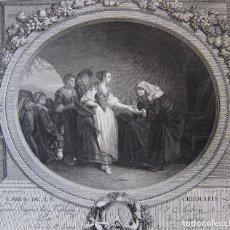 Arte: NICOLAS DE LAUNAY. L'ABUS DE LA CRÉDULITÉ. AGUAFUERTE. 26 X 30 CM. Lote 245918520