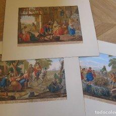 Arte: 3 GRABADOS: LA MATTINA / IL MEZZO GIORNO / LA SERA. AGUAFUERTES, COLOREADOS MANUALMENTE. Lote 245919070
