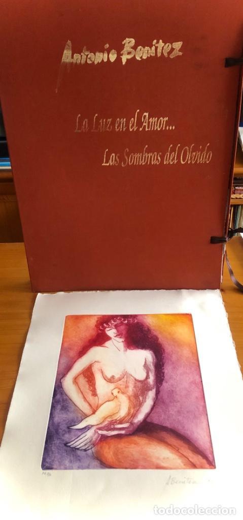 CHICLANA- CADIZ- ANTONIO BENITEZ- CARPETA GRABADOS - POEMAS- AÑO 1992 (Arte - Grabados - Contemporáneos siglo XX)