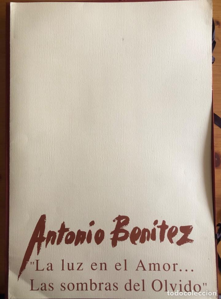 Arte: CHICLANA- CADIZ- ANTONIO BENITEZ- CARPETA GRABADOS - POEMAS- AÑO 1992 - Foto 3 - 245958390