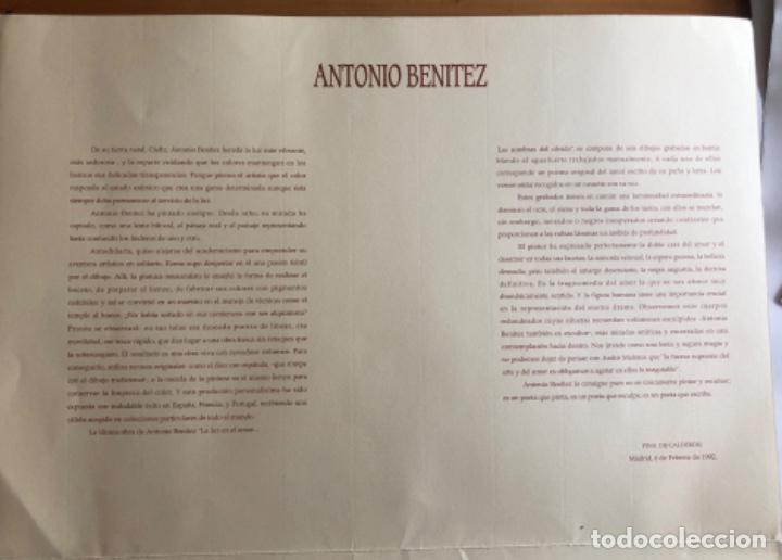 Arte: CHICLANA- CADIZ- ANTONIO BENITEZ- CARPETA GRABADOS - POEMAS- AÑO 1992 - Foto 5 - 245958390