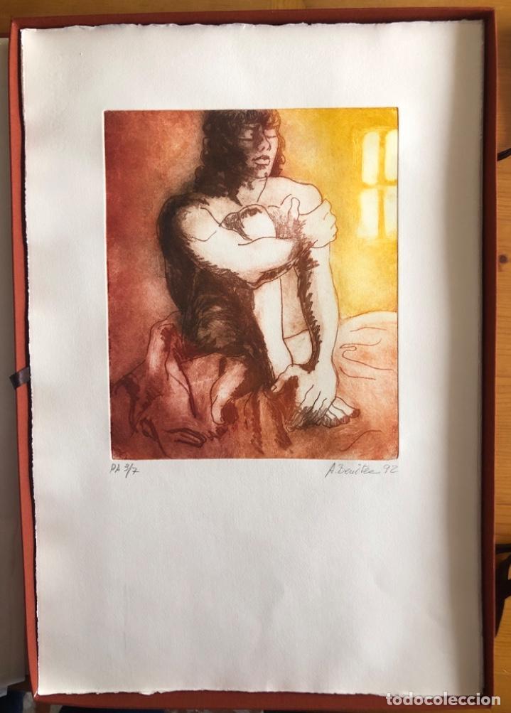 Arte: CHICLANA- CADIZ- ANTONIO BENITEZ- CARPETA GRABADOS - POEMAS- AÑO 1992 - Foto 11 - 245958390