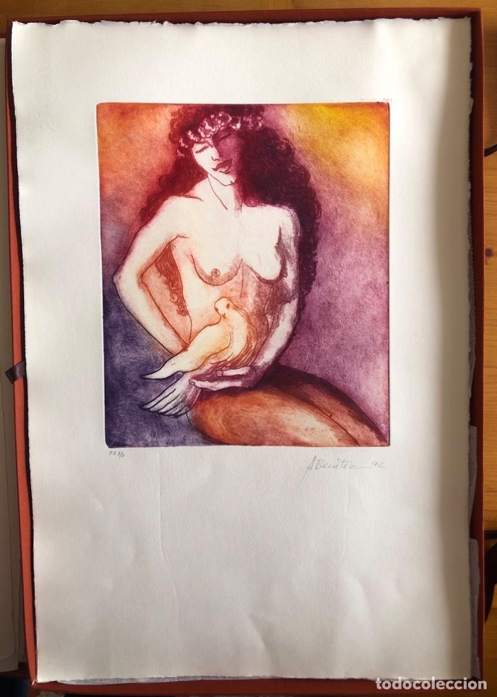 Arte: CHICLANA- CADIZ- ANTONIO BENITEZ- CARPETA GRABADOS - POEMAS- AÑO 1992 - Foto 12 - 245958390