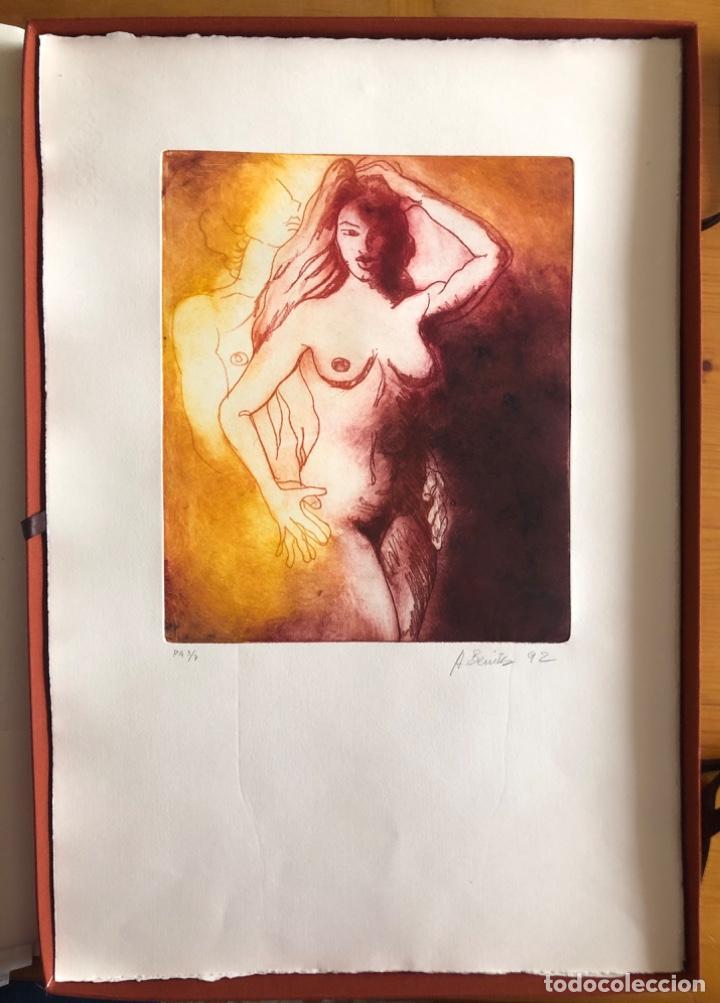 Arte: CHICLANA- CADIZ- ANTONIO BENITEZ- CARPETA GRABADOS - POEMAS- AÑO 1992 - Foto 13 - 245958390