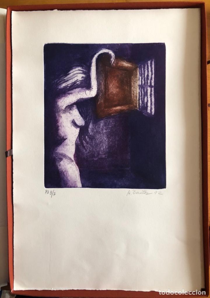Arte: CHICLANA- CADIZ- ANTONIO BENITEZ- CARPETA GRABADOS - POEMAS- AÑO 1992 - Foto 14 - 245958390