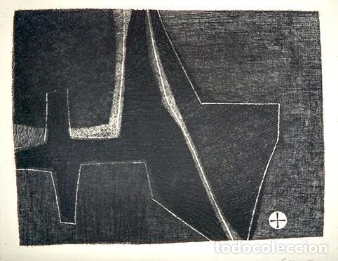 JOSÉ CUNÍ ALFONSO (MONTMELÓ, 1924). GRABADO FIRMADO Y SERIADO 10/10, 1957 (Arte - Grabados - Contemporáneos siglo XX)