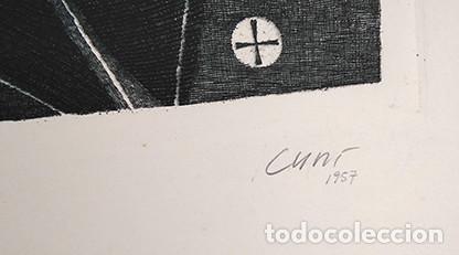 Arte: José Cuní Alfonso (Montmeló, 1924). Grabado firmado y seriado 10/10, 1957 - Foto 2 - 245989945