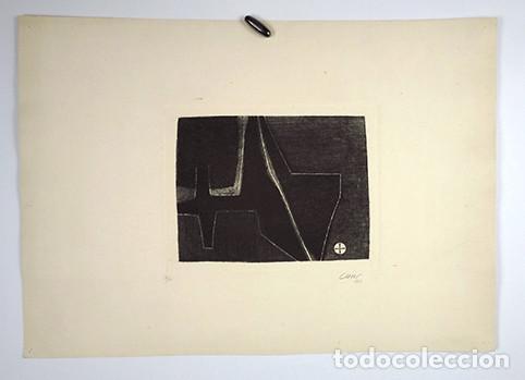 Arte: José Cuní Alfonso (Montmeló, 1924). Grabado firmado y seriado 10/10, 1957 - Foto 4 - 245989945