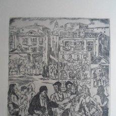 Arte: JOSÉ GUTIÉRREZ SOLANA (1886-1945) AGUAFUERTE 1963: EL CIEGO 28X22 CMS PAPEL 50X65CMS, FIRMA PLANCHA. Lote 246014635
