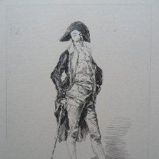 Arte: FORTUNY POR MIGUEL SEGUÍ (BARCELONA 1858-1923) GRAB RETRATO PLUMA 14X17 PAPEL 49X38 CENTENARIO 1975. Lote 246188445