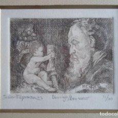 Arte: IGNACIO JAVIER ESPERANZA ALEDO (MADRID,) GRABADO 11,5X9 MARCO 26X25CMS, FIRMADO, TITULADO Y 11/100. Lote 246192900