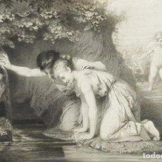 Arte: EXCELENTE GRABADO ANTIGUO IMPRESO EN 1879. Lote 246260920