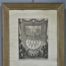 Arte: GRABADO. LIBERAZIONE DI TIRRENO 1616. CARNAVAL. JACQUES CALLOT (1592-1635). Lote 246343300