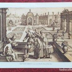 Arte: LÀMINA MATTHÄUS MERIAN. 1593-1650. REPRODUCCIÓN DE GRABADO. DAVID I EL BANY DE BET-SABÉ. 27 X 22 CM.. Lote 246352030