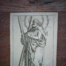 Arte: MARAVILLOSO Y RARÍSIMO GRABADO APÓSTOL ANDRÉS, ORIGINAL 1610.JAN MULLER. SEGUIDOR VAN LEYDEN. Lote 246516745