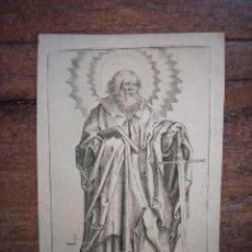 Arte: MARAVILLOSO Y RARÍSIMO GRABADO SAN PABLO DE TARSO, ORIGINAL 1610.JAN MULLER. SEGUIDOR VAN LEYDEN. Lote 246520180