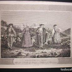 Arte: ASTORGA LEON Y SALAMANCA GRABADO SIGLO XIX COSTUME OF SPAIN TRAJES EN PASPARTOU. Lote 246532565