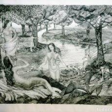 Arte: INTERESANTE GRABADO. FIRMADO Y FECHADO 1936. ENVIO CERTIFICADO INCLUIDO.. Lote 246723220