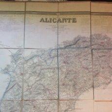 Arte: MAPA PROVINCIA ALICANTE, DENTRO DEL ATLAS DE ESPAÑA Y SUS POSESIONES DE ULTRAMAR 1855 F.COELLO/MADOZ. Lote 246912310