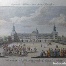 Arte: MADRID REAL ALCÁZAR ANTIGUO GRABADO SIGLO XVIII 23 X 36 CMTS. Lote 246922210