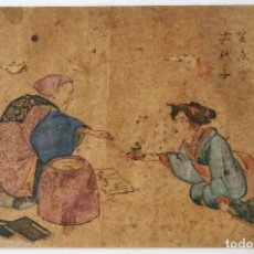 Arte: EXCELENTE GRABADO ORIGINAL DEL MAESTRO HOKUSAI, GRAN CALIDAD, CIRCA 1790, RARO, GEISHA, UKIYOE. Lote 247188875