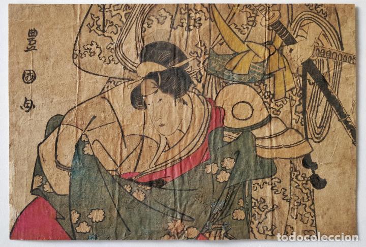 BONITO GRABADO JAPONÉS ORGINAL DEL MAESTRO UTAMARO, FINALES DEL SIGLO XVIII, RARO (Arte - Grabados - Antiguos hasta el siglo XVIII)