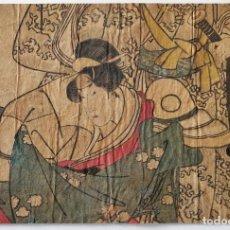 Arte: BONITO GRABADO JAPONÉS ORGINAL DEL MAESTRO UTAMARO, FINALES DEL SIGLO XVIII, RARO. Lote 247194305