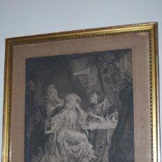 Arte: GRABADO FRANCÉS - LA CREDULITÉ SANS REFLEXION - BRUJA - SCHENAU - LOUIS HALBOU - CIRCA 1770. Lote 247283650