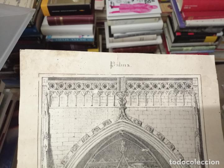Arte: 3 GRABADOS ORIGINALES 1ª EDICIÓN 1840 PANORAMA ÓPTICO - HISTÓRICO - ARTÍSTICO BALEARES . FURIÓ - Foto 3 - 247331440
