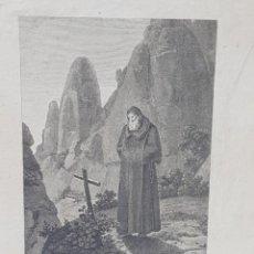 Arte: GRABADO AL COBRE SOBRE PAPEL DE FRAY JUAN GARIN ERMITAÑO DE MONSERRAT 1806. Lote 247396835