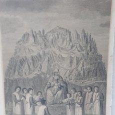 Arte: GRABADO ANTIGUO NUESTRA SEÑORA MONSERRAT CON LOS PASTORES 1791 BARCELONA. Lote 247401385