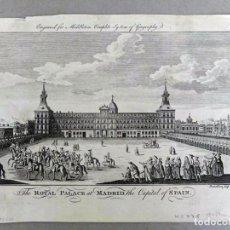 Arte: 1778CA. GRABADO AL COBRE PALACIO REAL DE MADRID. CHARLES MIDDLETON, LONDRES. Lote 247472505