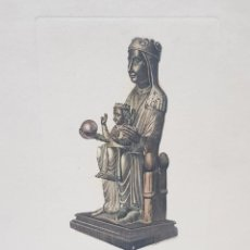 Arte: GRABADO AL COBRE ANTIGUO NTRA. SEÑORA MONSERRAT SOBRE TALLA SIGLO XII DE I.G.OLIVA BARNA. Lote 247590745