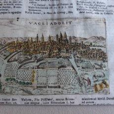 Arte: VALLADOLID. GRABADO AL COBRE. 1713. PADUA. ORIGINAL. COLOREADO.. Lote 247946740