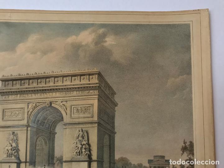 Arte: Grabado antiguo siglo XIX Paris Francia Arco del Triunfo 1836 Bernard & Frey - Bernard & Frey - Foto 3 - 247974775