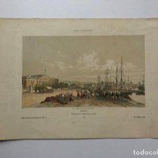 Arte: GRABADO ANTIGUO SIGLO XIX DIEPPE NORMANDIA 1853 BEUZELIN - BEUZELIN. Lote 247974780