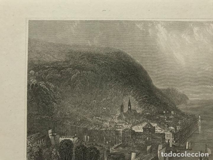 Arte: Grabado antiguo siglo XIX Honfleur Normandia 1850 Hildburghausen - Hildburghausen - Foto 2 - 247974795